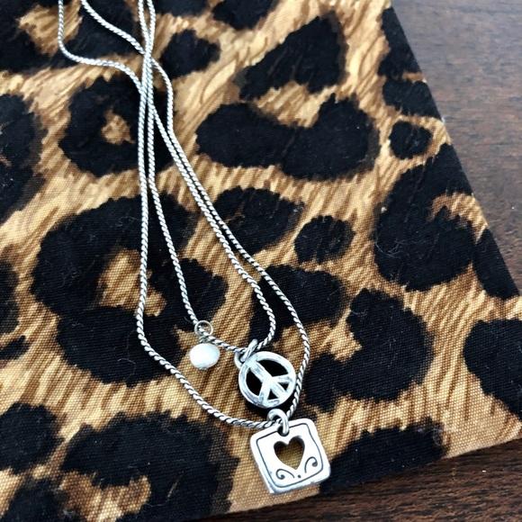 Brighton Jewelry - Brighton peace and love necklace